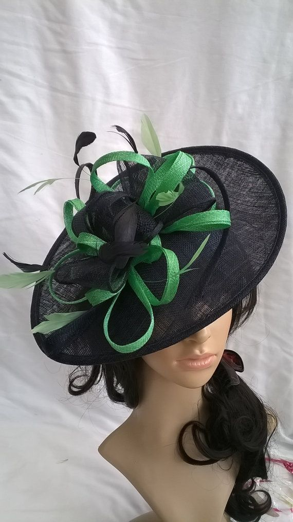 Navy Blue   green Fascinator Hat on a by SpecialDayfascinator £49.99  matching bag £25 86a8c78c1c6