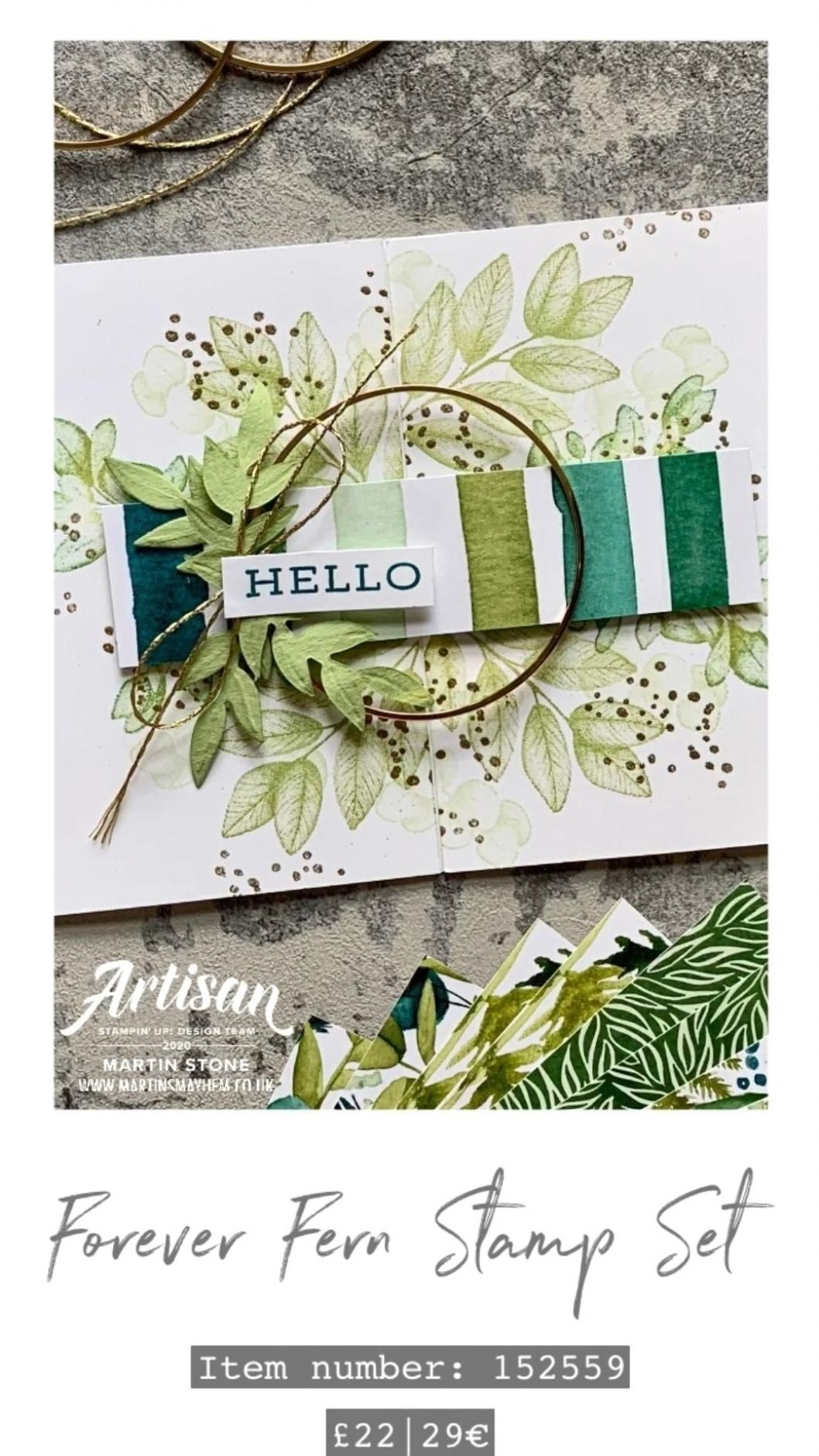 Stampin' Up! Forever Fern Card