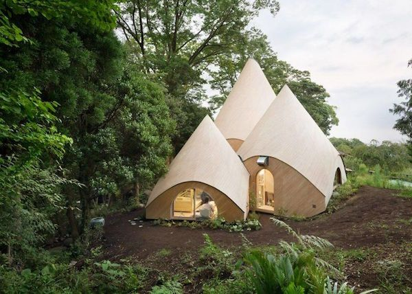 Cozy Tent-Like House In Japanese Mountains Comes With Spiral Indoor Pool…