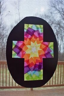 Easter Cross By Homegrown Catholics Add Tissue Paper