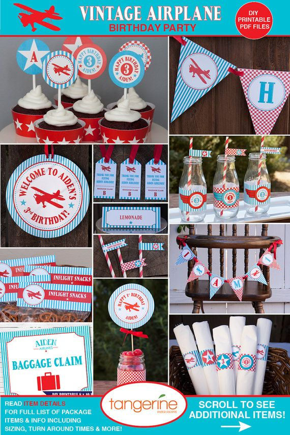 Airplane Birthday Party Decorations Package