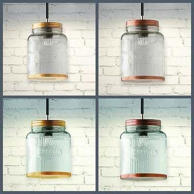 Retro Vintage Style Cookie Coffee Jar Light Shade Pendant Gl Br Rose Gold