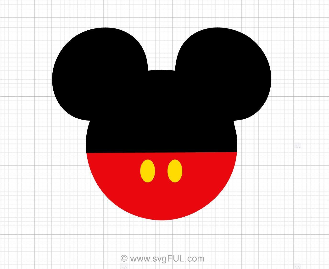 Mickey Mouse Ears SVG Mickey mouse head, Disney diy