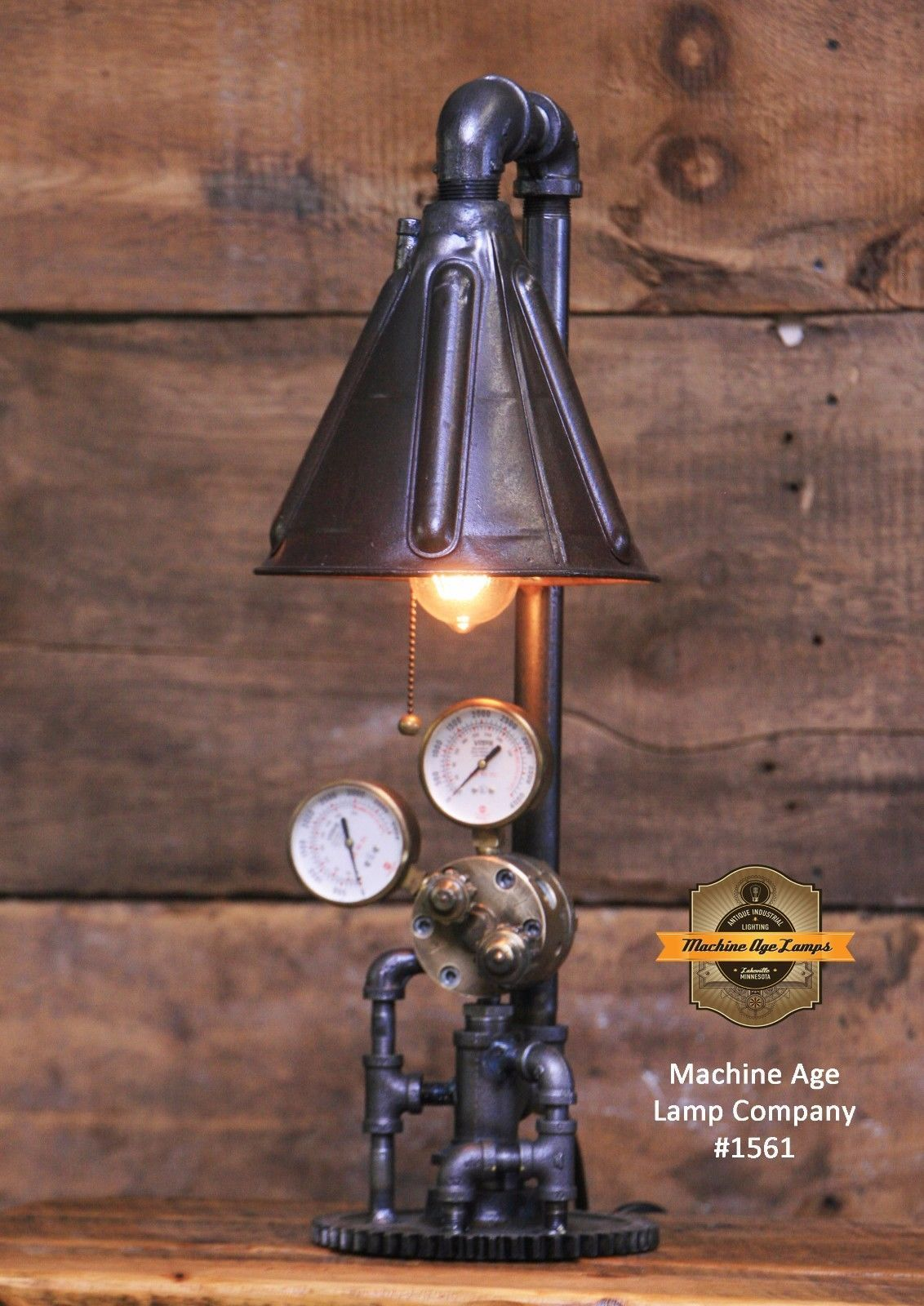 Steampunk Lamp Machine Age Light Gear Br