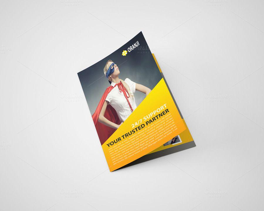 ItS An Oranji Corporate Bi Fold Brochure Template Design For Any