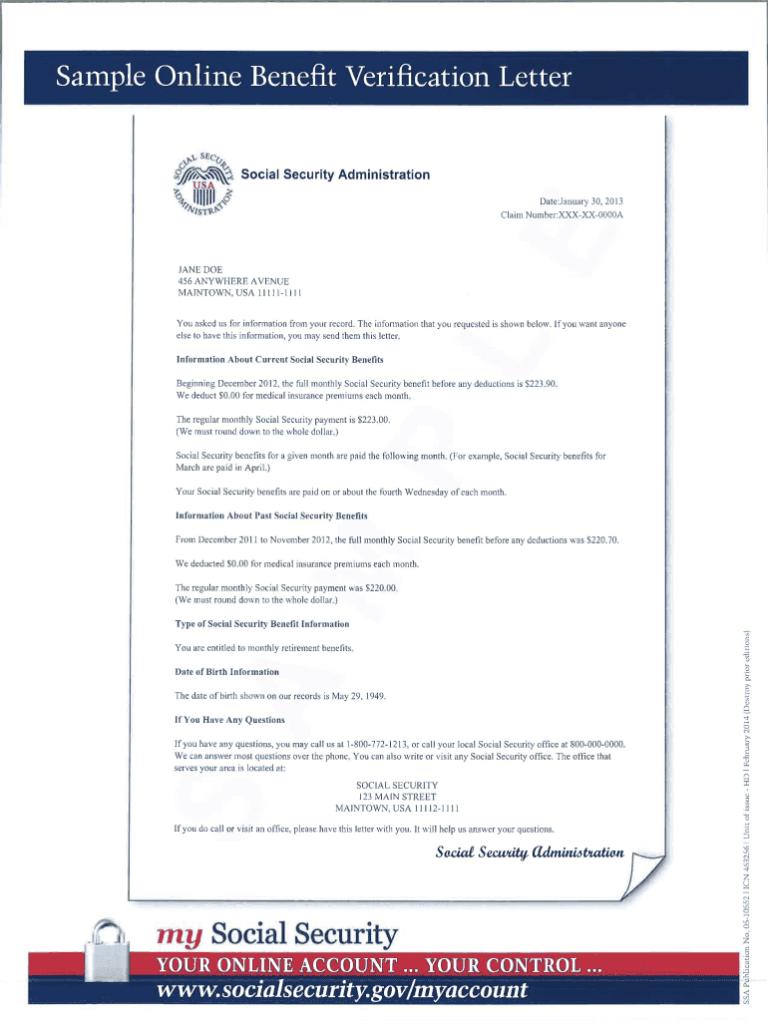 Social Security Award Letter Sample Pdf Fill Online Inside Social Security Card Template Pdf Letter Sample Lettering Business Plan Template