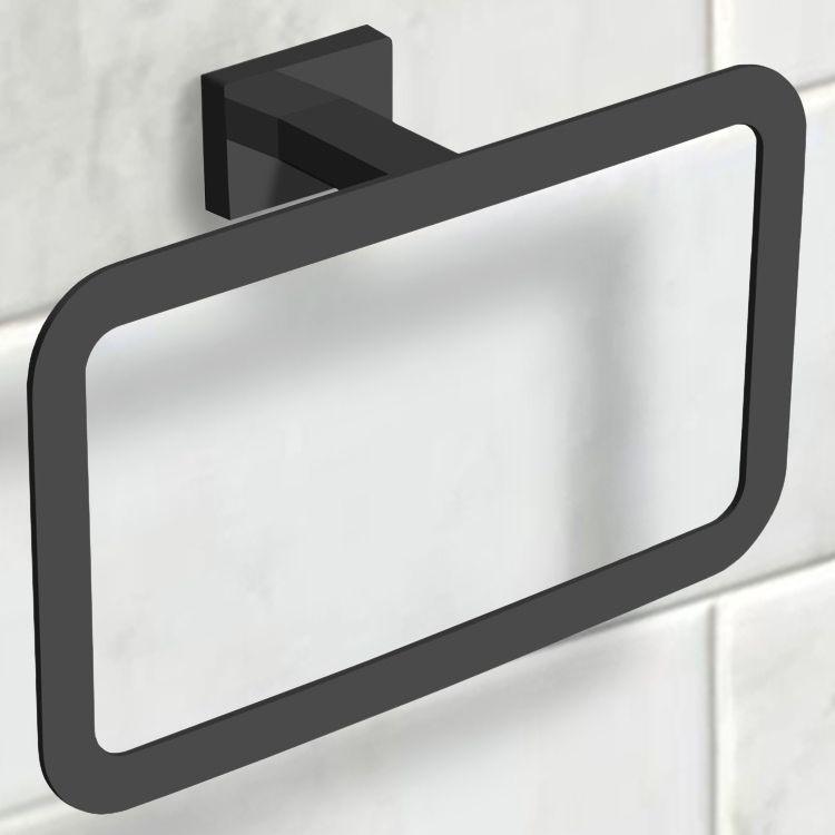 Modern Matte Black Towel Ring Black Toilet Paper Holder Black Towels Black Toilet Paper