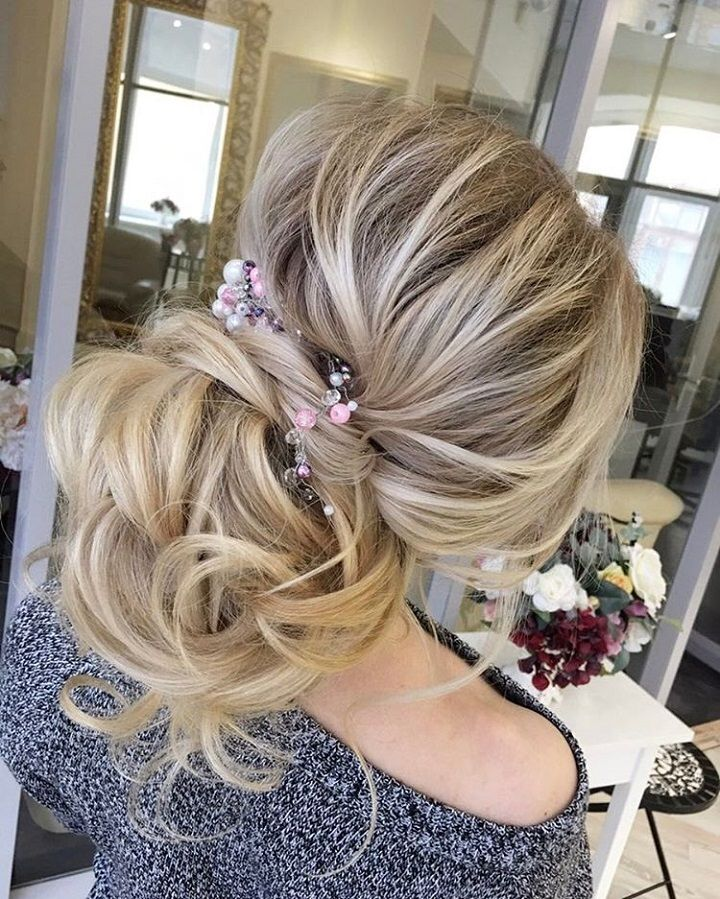 Loose Wedding Hairstyles: Beautiful Loose Updo Wedding Hairstyle