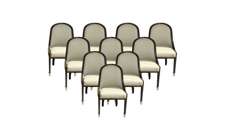 Seine Leather Upholstered Dining Chairs | Upholstered ...
