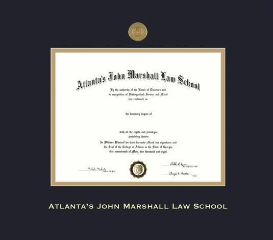 Custom Diploma Frames Amp Certificate Frames Framing Success Atlanta 39 S John Marshall Law School Diploma Diploma Frame Marshall Law Certificate Frames