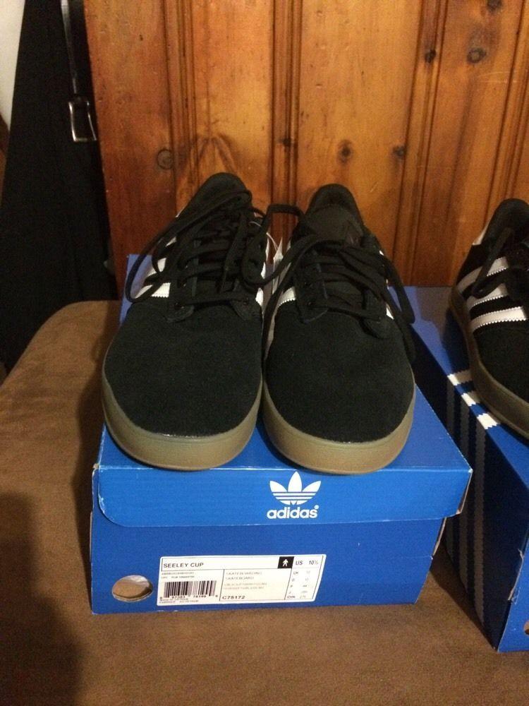 metodología desinfectante Consejo  Men's New Adidas Seeley Cup Shoes US 10.5 Black/White/Gum | Mens casual  shoes, Victoria secret outfits, Casual shoes