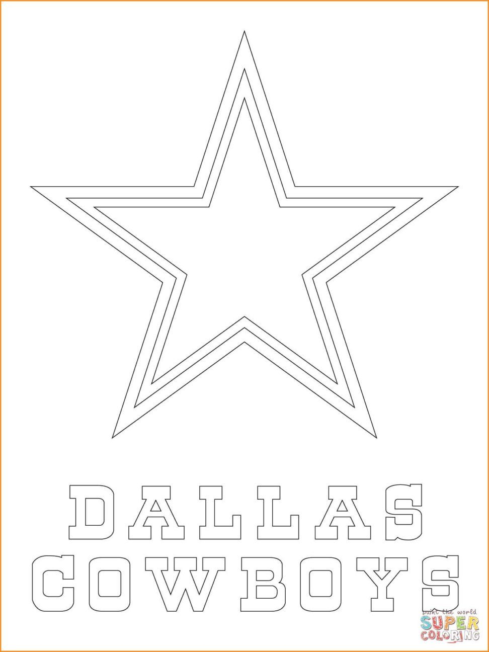 Dallas Cowboys Coloring Pages | Coloring pages for Kiara | Pinterest