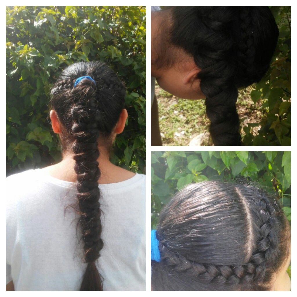Today I Did 2 Braids On Each Side Of Her Hair And The Mermaid Braid Is Inspired By Brownhairedbliss Follow Me On Instagram In Hair Styles Mermaid Braid Hair
