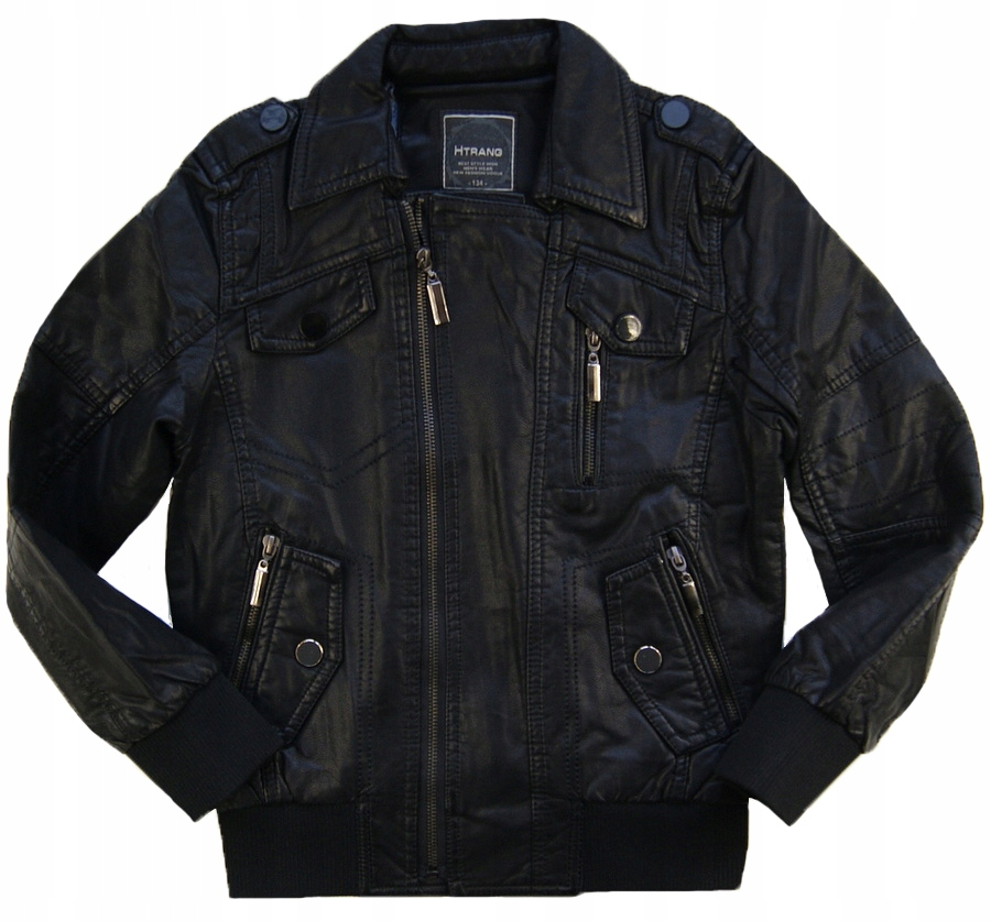 Htrang Nowa Modna Kurtka Czarna Skora Wiosna 158 8136997477 Oficjalne Archiwum Allegro Jackets Motorcycle Jacket Fashion