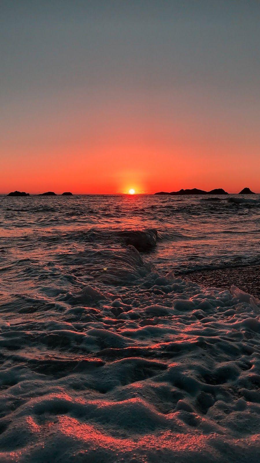 Sunset Beach Android fond d'écran wallpaper iphone