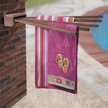 Clotheslining Inspiration Wall Mount Outdoor Towel Rack  Cool Idea Because They Fold Down Decorating Inspiration