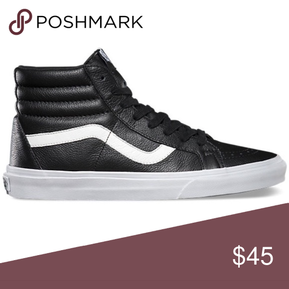 Vans Sk8 Hi Leather High Tops Vans Sk8 Hi Leather High Tops. Black leather. Size  6 (women s) only worn a few times 13c2e00450