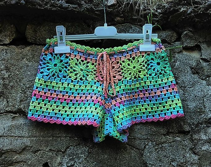 Crochet Shorts Pattern Lace Shorts Beach Shorts Flower Shorts Boho