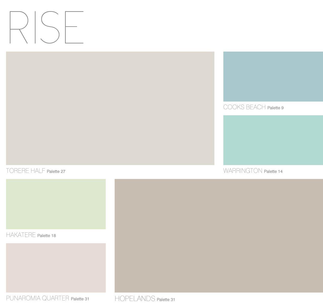 Rise Palette From Dulux Colour Forecast 2013 Dulux