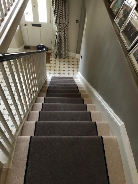 Brintons Carpets Bell Twist Mushroom Ebony Indian Ivory   Twist Carpet For Stairs