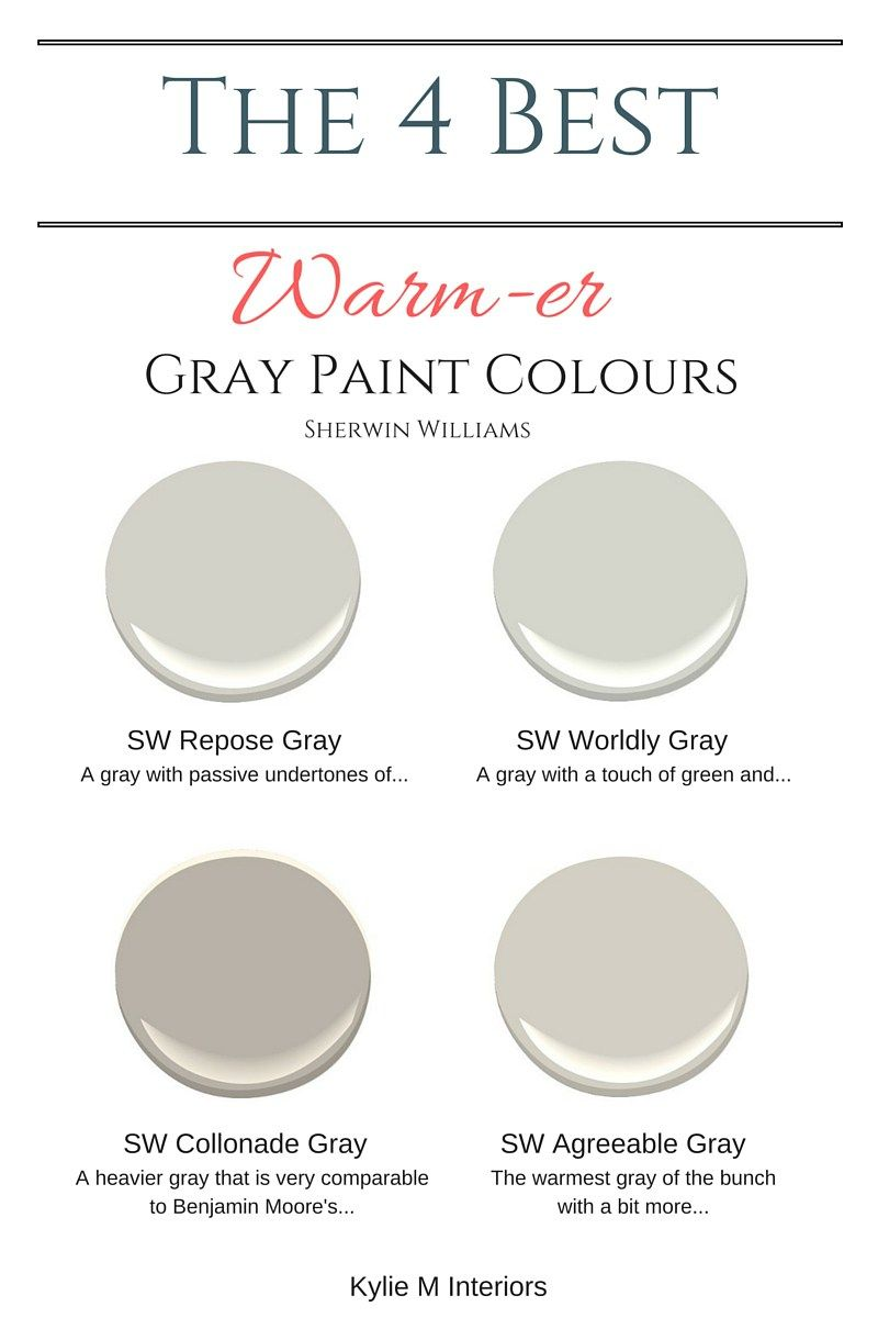Best Gray Paint Color The 4 Best Warm Gray Paint Colours Sherwin Williams  Warm Gray