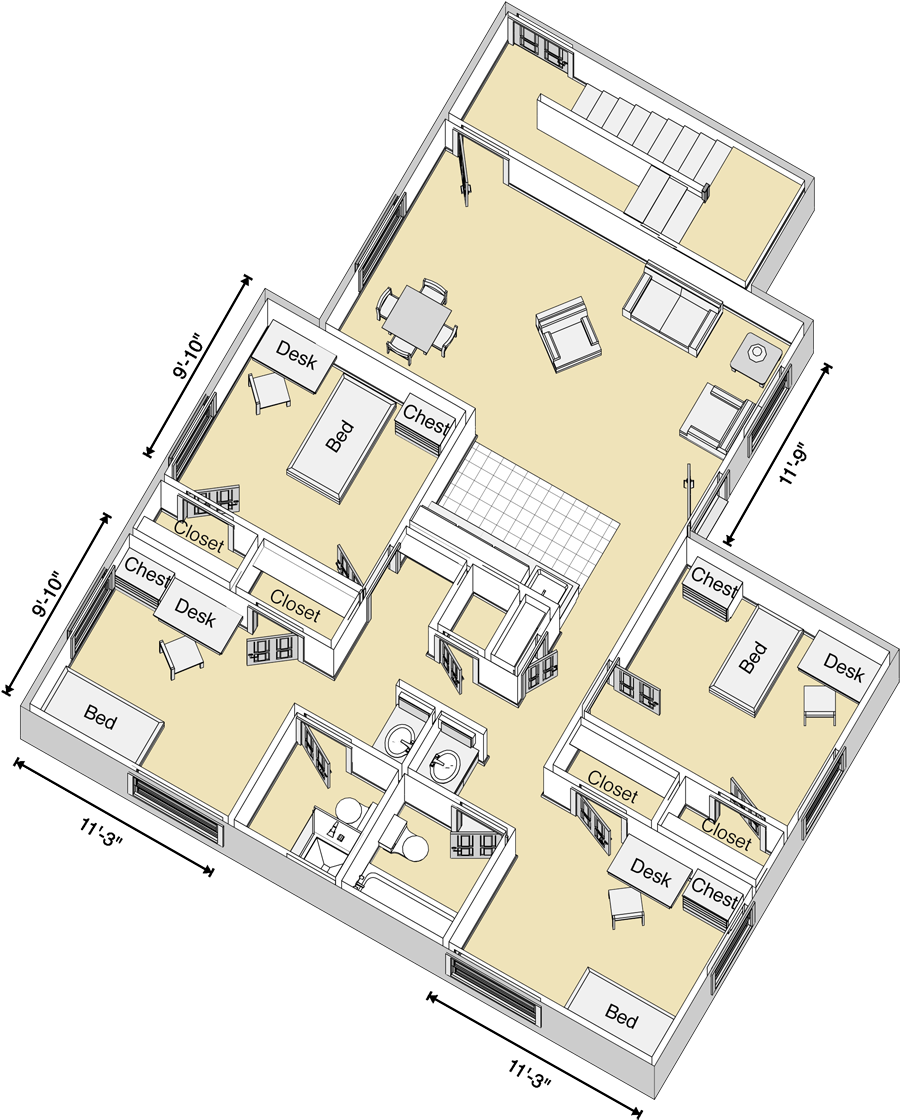 Baker College Flint Campus Map.Carpenter Wells Complex 4 Bed Room Layout Let S See The Residence
