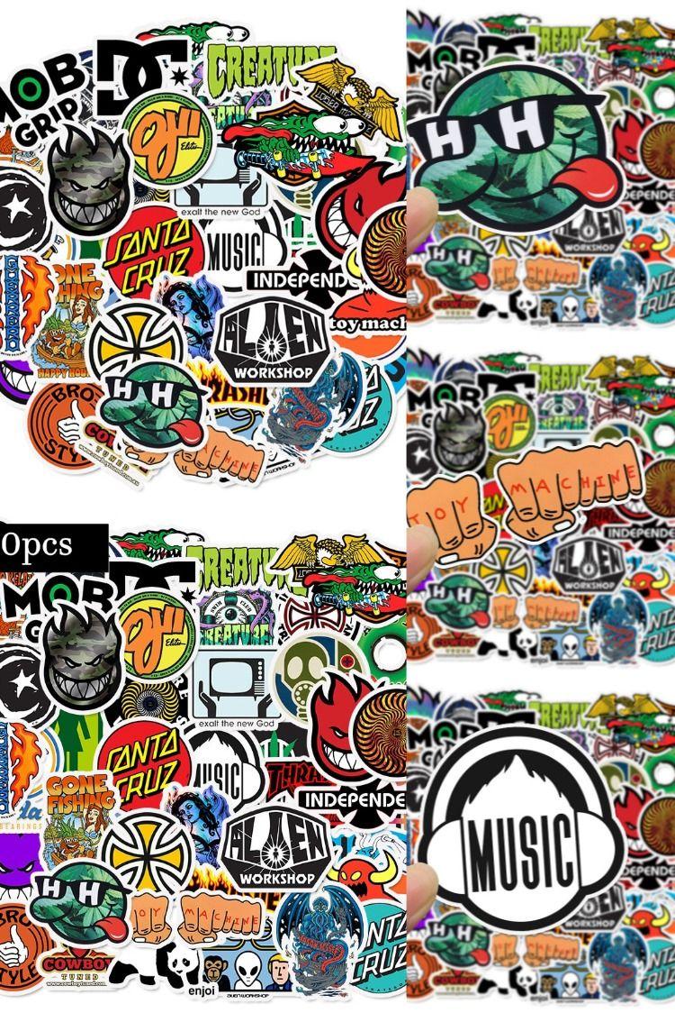 50 PCS/Lot Mixed Cool Graffiti Stickers Bomb For Luggage