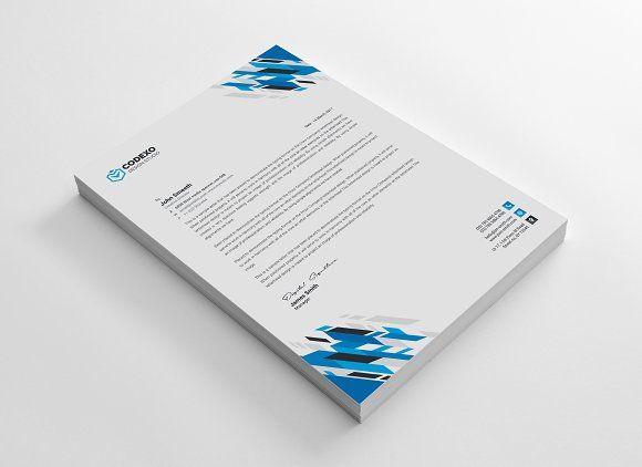 letterhead template by generous art 2 on creativemarket