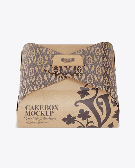 Download Carton Cake Box Mockup Front View High Angle In Box Mockups On Yellow Images Object Mockups Mockup Free Psd Box Mockup Free Psd Mockups Templates
