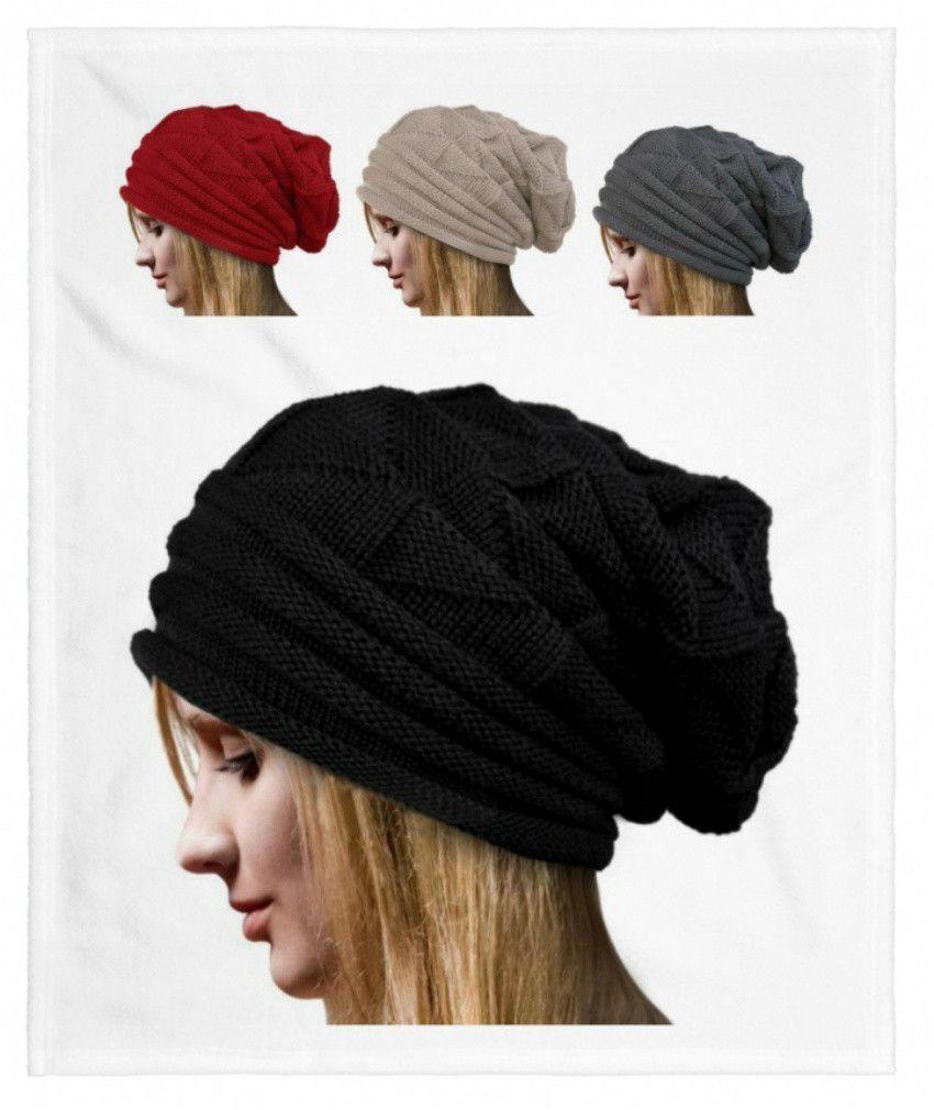 Warm Winter Crochet Hat, Baggy Style