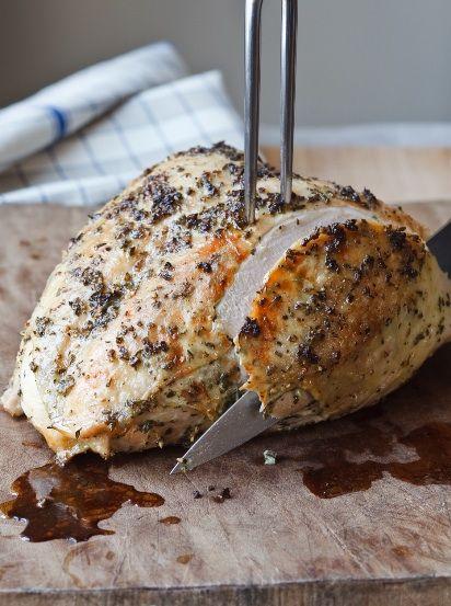 Turkey breast roasting