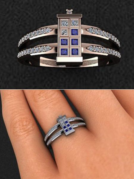 The perfect ring for a Doctor Who fan Tardis Tardis ring and Ring