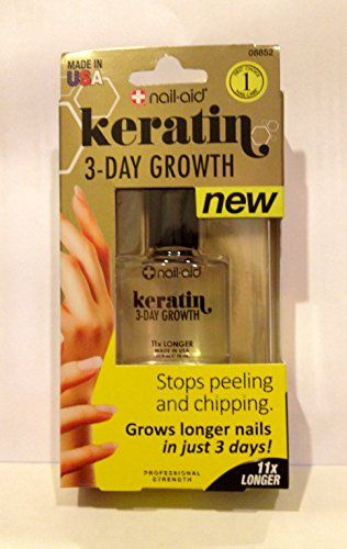 Nailaid Keratin 3day Growth 55 Fl Oz 16ml Be Sure To Check Out This Awesome Product This Is An Affiliate Link Keratin Grow Long Nails How To Grow Nails