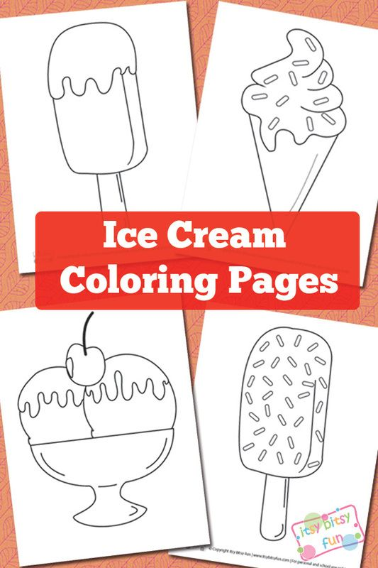 Ice Cream Coloring Pages Share Your Craft Pinterest
