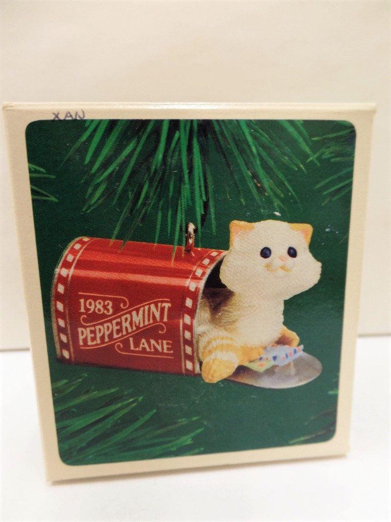Hallmark Mailbox Kitten Christmas Ornament 1983 Nos Cat In Etsy In 2020 Christmas Ornaments Hallmark Ornaments Christmas