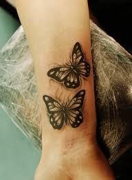 Photo of Bildergebnis für tattoos butterfly on wrist