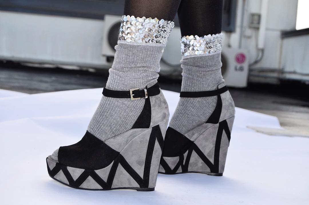 Zig Zag Wedge /Mark Schwartz#markschwartzshoes #wedges #highheeledart #fashion #style #fashion #style #heels