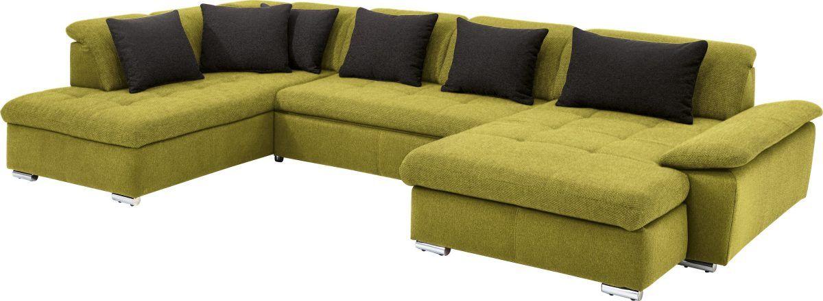 Wohnlandschaft grün, »SO 7100«, mit Schlaffunktion, SET ONE BY - wohnzimmer einrichten grun