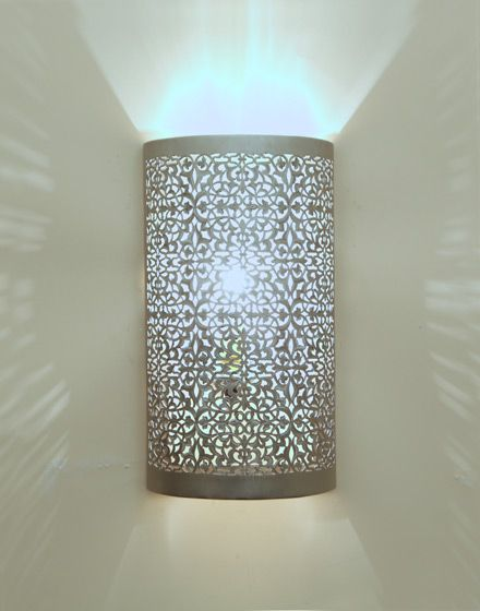 Moroccan wall light silver finish i want that pinterest moroccan wall light silver finish mozeypictures Choice Image