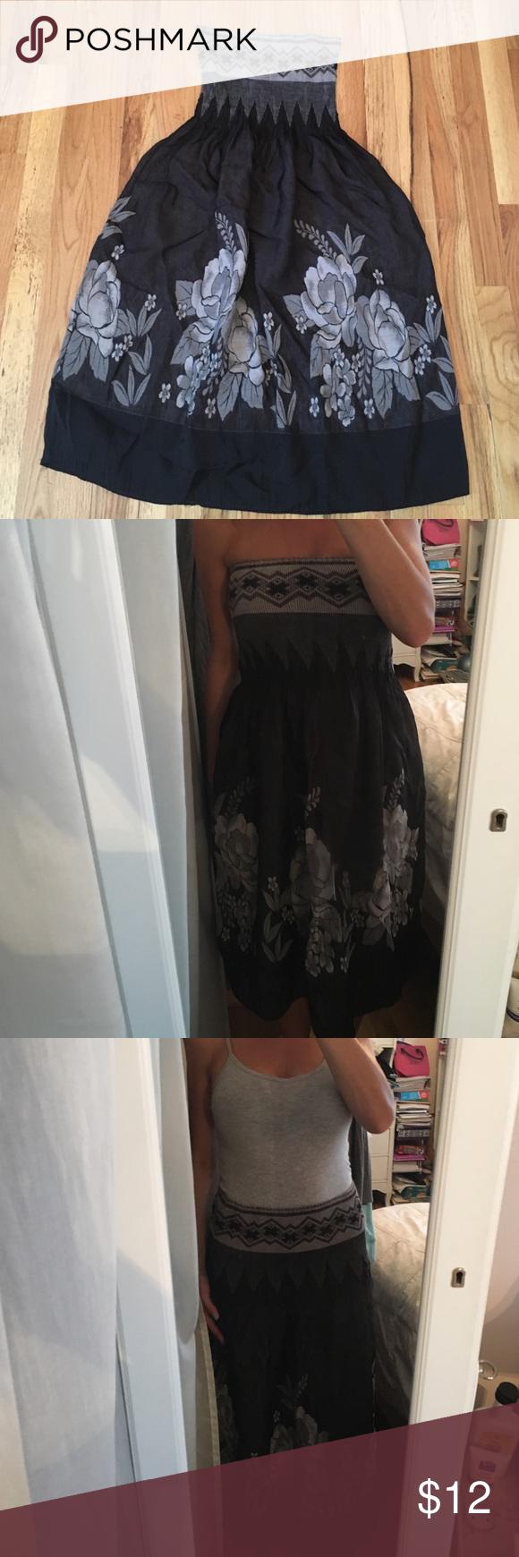 Strapless convertible dresslong skirt strapless dress