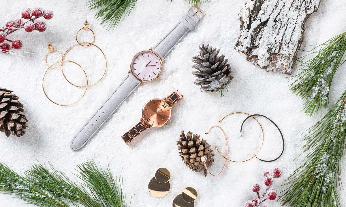 Sesja Swiateczna Zegarek Damski Bransoletki Minimalistyczna Bizuteria Kolczyki Accessories Cluse Cluse Watch