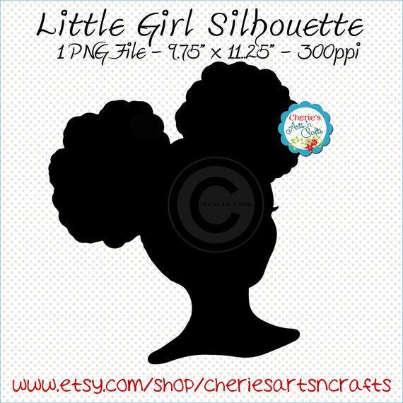 Free Woman Silhouette Clip Art | Black Female Afro Silhouette clip ...