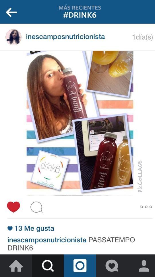 Lindas fotos da InêsCamposnutricionista com o seu passatempo da #Drink6 peça o seu plano detox em: www. drink6detox.pt  #detox #saúde #vidasaudável #Drink6