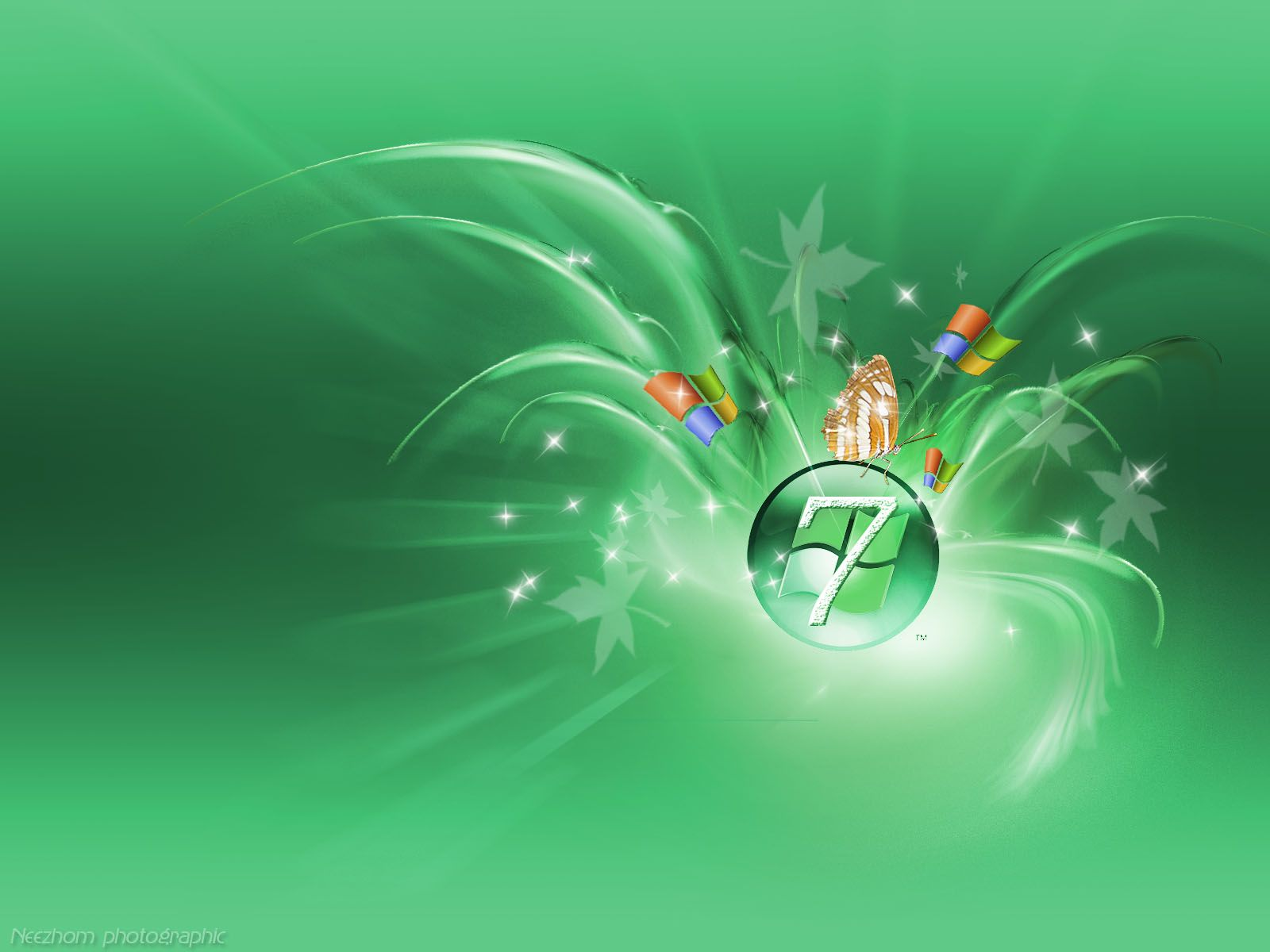3d wallpaper | cover windows 7 3d green wallpaper | wallpaper