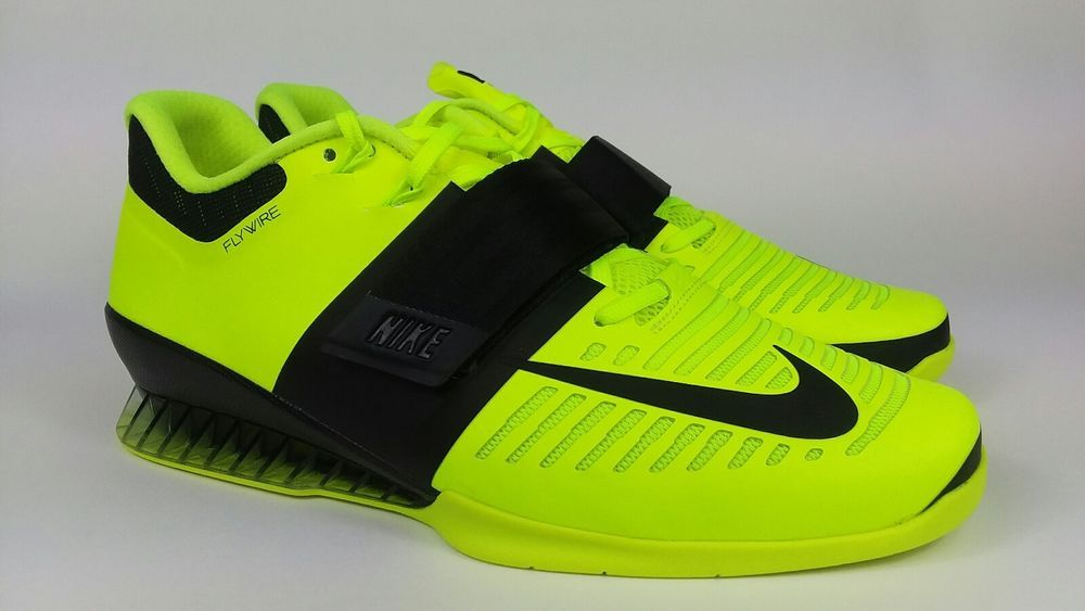 45c005ad2b545 Mens Nike Romaleos 3 Weightlifting Shoes Size 12 Volt 852933-700 ...