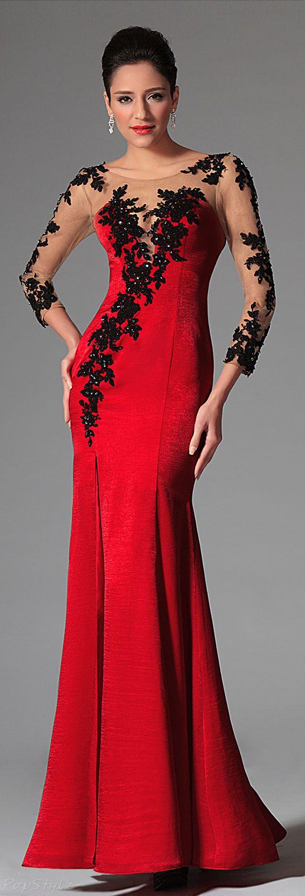 Edressit lacy velvet evening gown vestido coctel pinterest