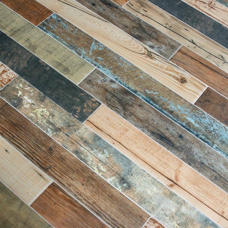 Zara 3 X 27 Porcelain Wood Look Subway Wall Floor Tile In 2020 Wood Look Tile Floor Distressed Wood Floors Wood