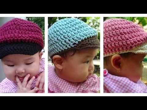 Baby Baseball Hat Crochet Tutorial Youtube Crochet Hats Crochet Baby Boy Hat Crochet Newborn Hat
