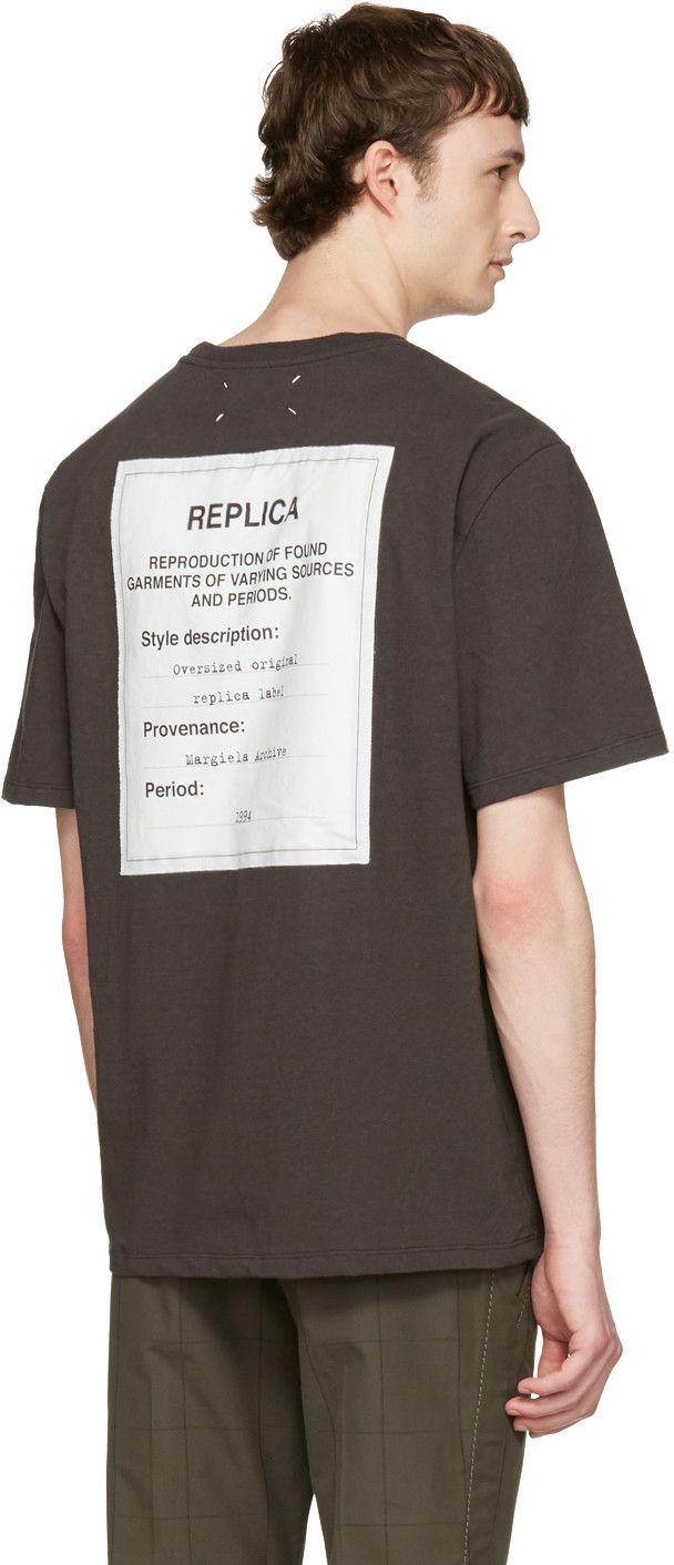 6b840f52b Maison Margiela - Black Replica Back Logo T-Shirt