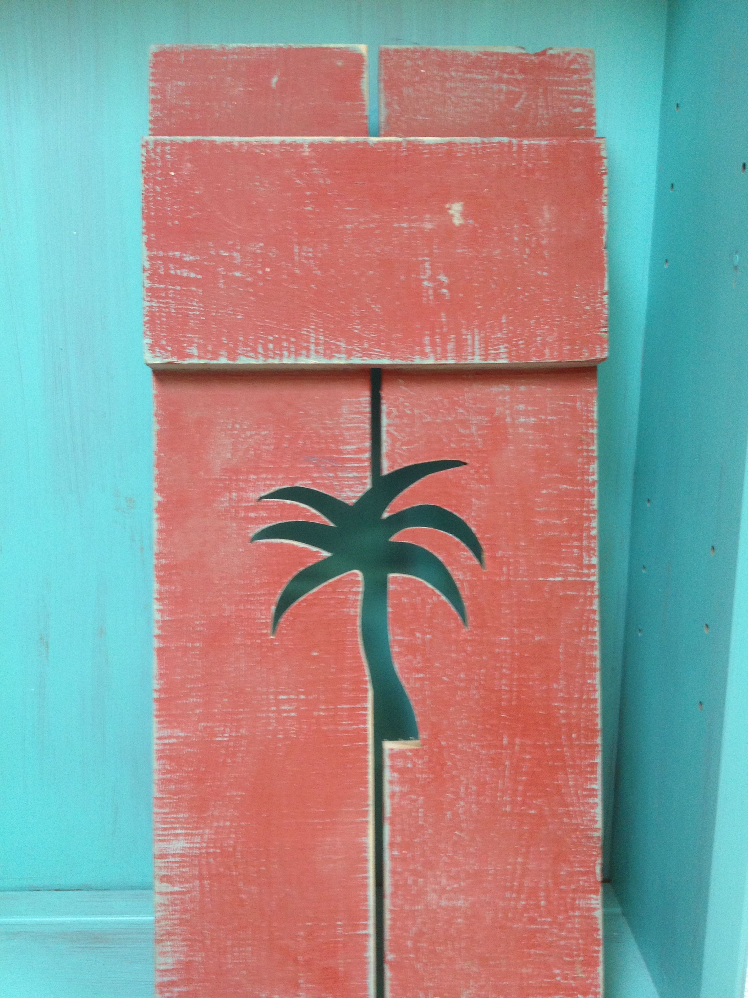 Palm tree cutout shutters are here in any color you like. | Home ...